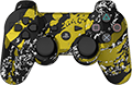 Chrome Gold Splatter