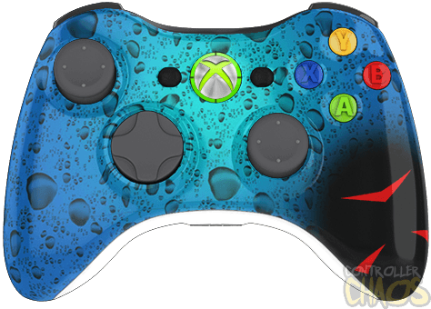 Custom Controllers - Xbox 360 - Rapid Fire - H20 Delirious ... H20 Delirious Controller